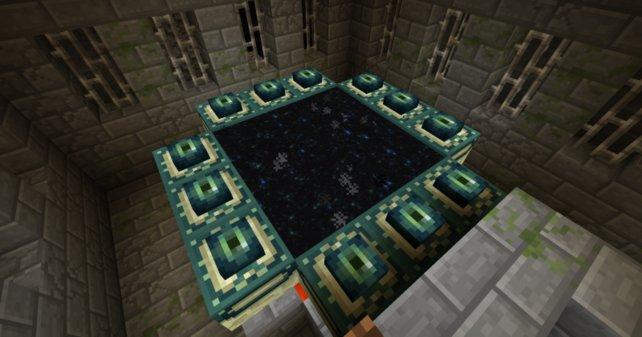 Hüpft in das Portal, wenn ihr für das Ende von Minecraft bereit seid.