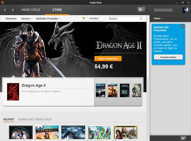 Origin läuft erst seit Juni, ist aber voll funktionsfähig.