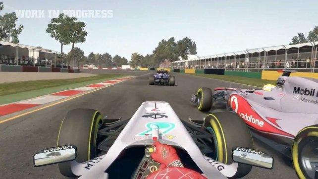 Die Cockpit-Ansicht in F1 2011.