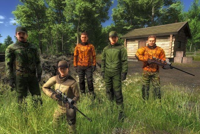 Bis zu acht Jäger können in The Hunter 2014 gleichzeitig auf die Jagd gehen.