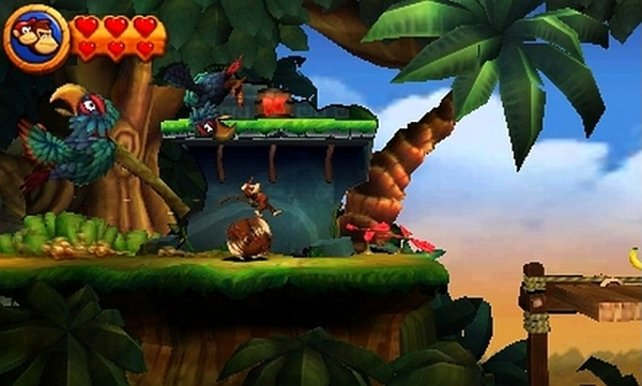 In Donkey Kong Countrey Returns 3D habt ihr nun drei Herzcontainer.