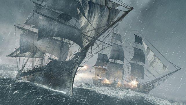 Seeschlachten sind ein wichtiger Bestandteil des Spiels. Und sie sind offener als noch in Assassin's Creed 3.