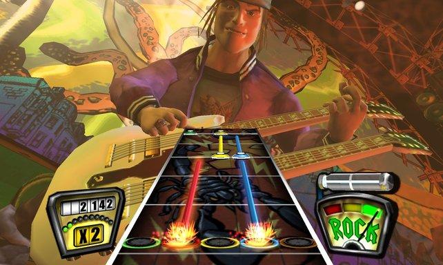 Die meisten Songs sind leichter zu spielen als in Guitar Hero 2