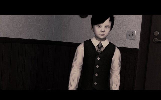Das ist Lucius, der Protagonist des gleichnamigen Spiels.
