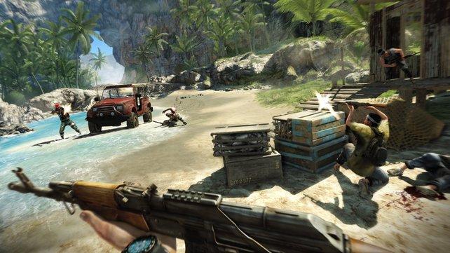 Insel-Abenteuer in Far Cry 3 - auch kooperativ eine echte Herausforderung.