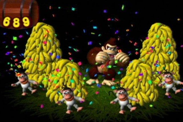 Freut sich über seine Bananen: Nach 15 schnellen Leveln sind alle wieder da.