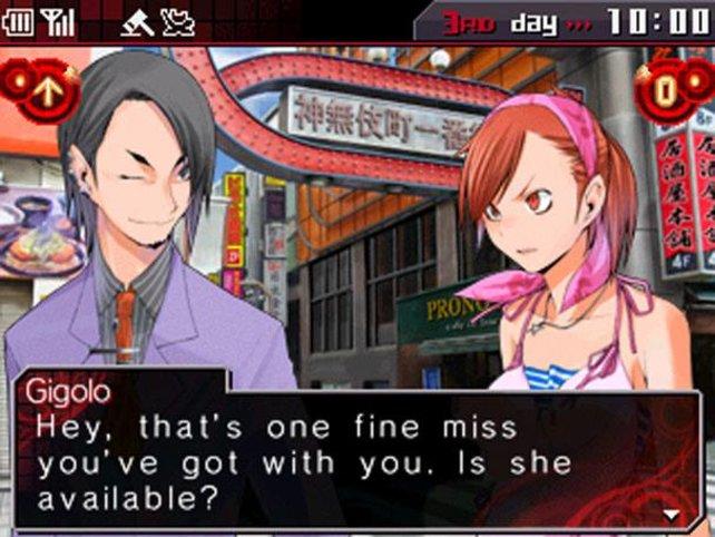 Das Spiel findet auf dem unteren Bildschirm statt.