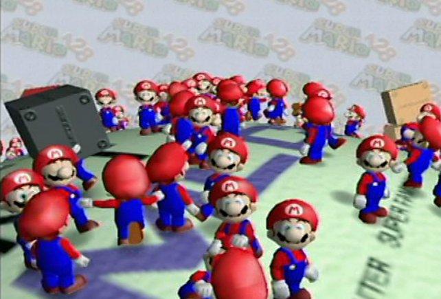 Im Jahr 2000 zeigt Nintendo die Technikdemo Super Mario 128, aus der Pikmin viele Ideen zieht.