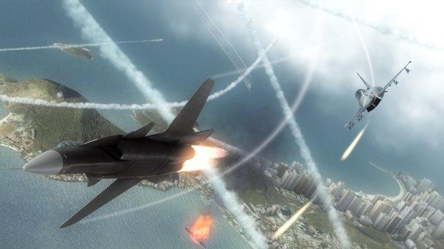 Luft-Luft-Kämpfe sind immer anspruchsvoll.