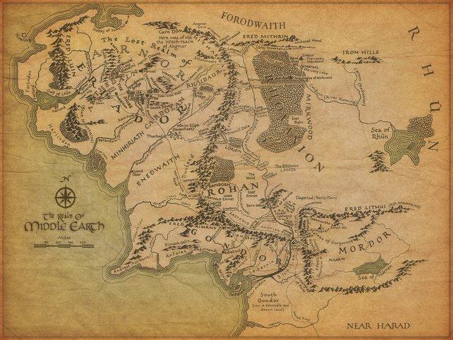 Eine Übersichtskarte zeigt die Lage von Rohan.