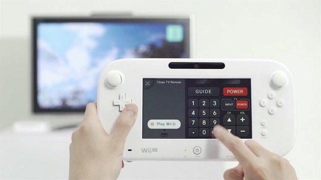 Mit der Wii U steuert ihr auch euren Fernseher.