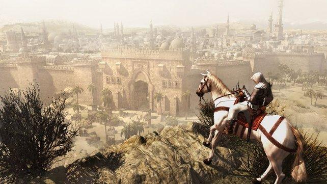 Herrlicher Ausblick auf das alte Damaskus.
