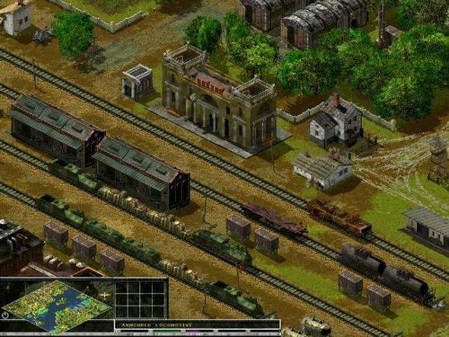 und auf einem Güterbahnhof...