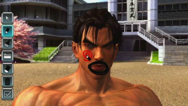 Witzig: Tekken besitzt einen Mal-Modus zur Verschönerung eurer Lieblinge.