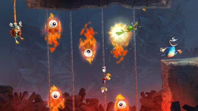 Zu viert: Mit bis zu vier Spielern könnt ihr die Levels an einer Konsole unsicher machen.