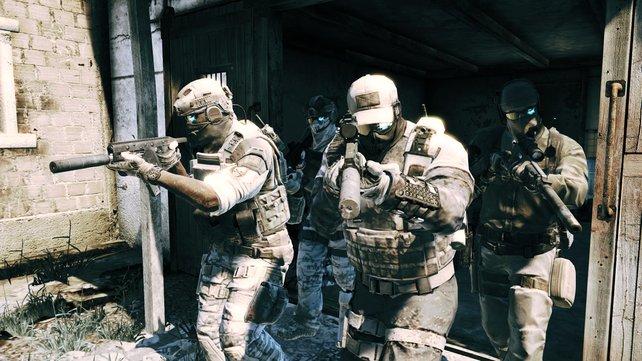 Das Team der Ghost-Spezialeinheit besteht aus Ghost Lead, 30K, Pepper und euch (Kozak).