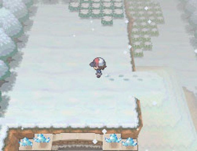 Im Winter rieseln Schneeflöckchen auf euch herab.