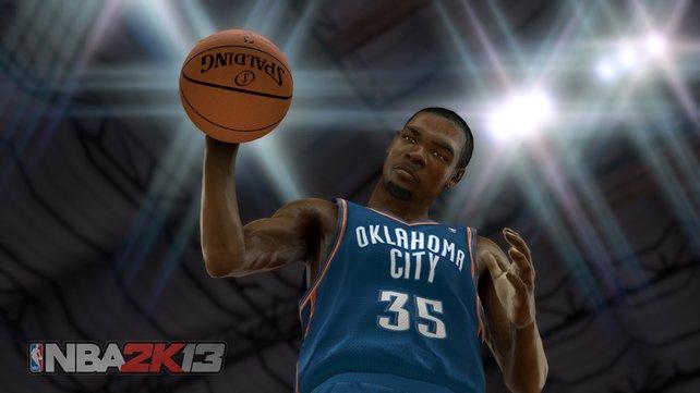 Besonders bekannte Spieler wie Kevin Durant erkennt ihr im Spiel sofort.