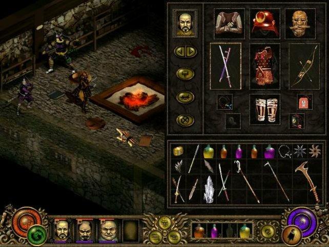 Das Waffenmenü ähnelt Diablo