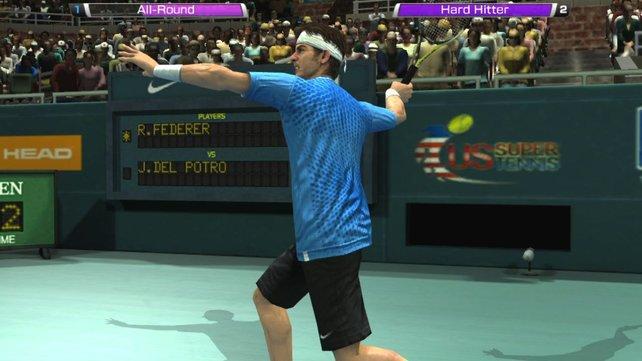 Die Nahaufnahmen der Spieler hauchen Virtua Tennis 4 Leben ein.