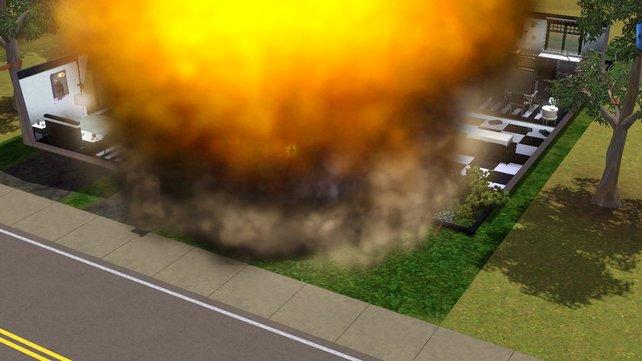Der Baum des Nachbarn wächst über euren Zaun? Mit einem Meteoriten wehrt ihr euch angemessen.