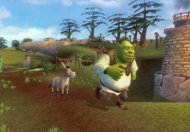 Shrek und Esel erleben ein Abenteuer