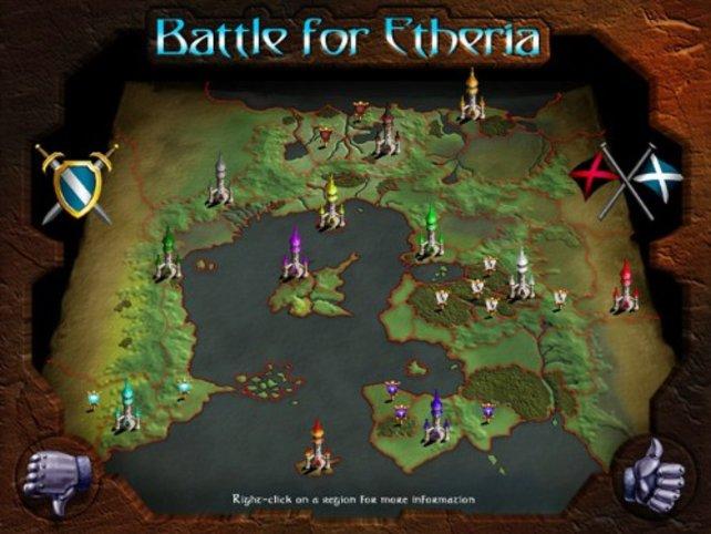 Die Karte des Fantasyreichs Etheria