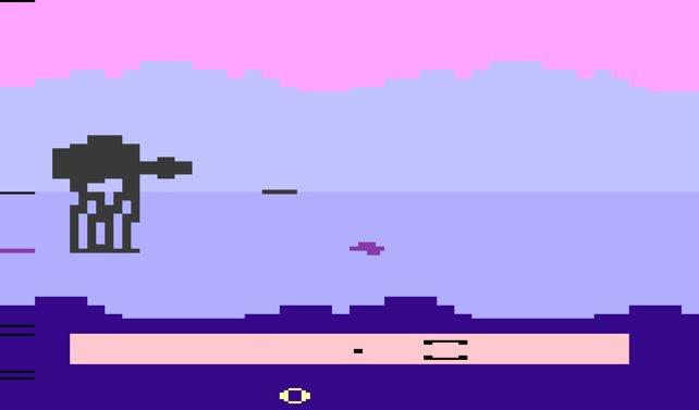Ja, das ist ein Spiel. Um genauer zu sein, seht ihr einen AT-AT, der von einem Raumjäger angegriffen wird.