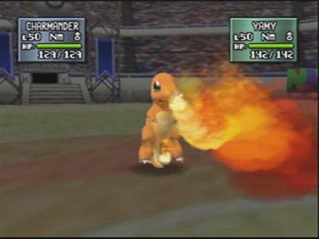 Glumanda ist mindestens so süß wie Pikachu, wie hier zu sehen. Auch wenn es gerade Feuer spuckt.