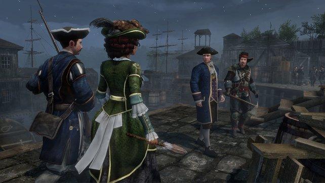 Als feine Dame lässt sich Aveline auch mal von einer Wache eskortieren.