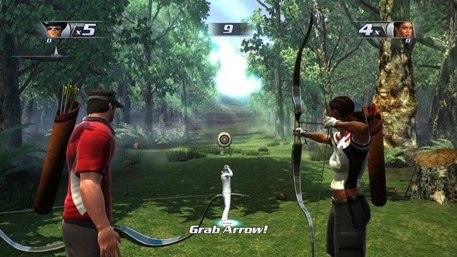 Bogenschießen funktioniert mit zwei Move-Controllern besser.