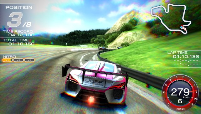 Geizhals: Ridge Racer Vita bietet verdammt wenig.