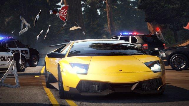 Ein Lamborghini auf der Flucht. Typisch Need for Speed.