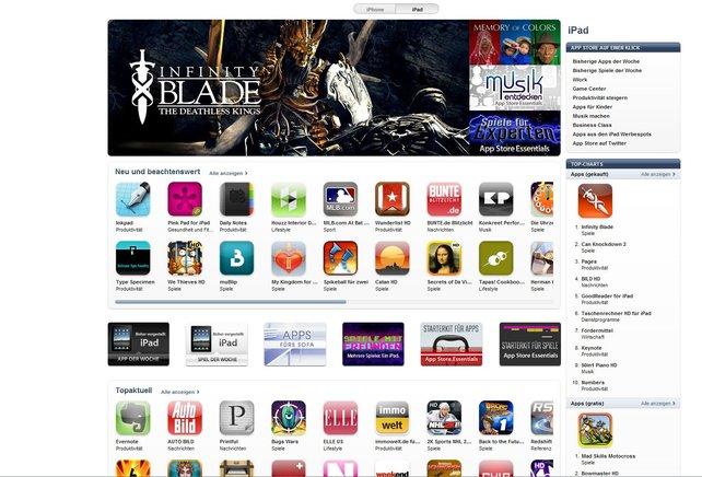 Der AppStore auf PC und Mac - Bestandteil vom aktuellen iTunes 10