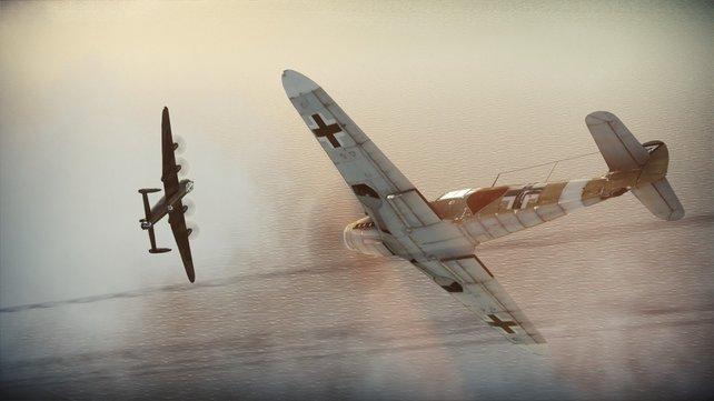 Heiße Luftkämpfe in War Thunder vor dem Hintergrund des Zweiten Weltkriegs.