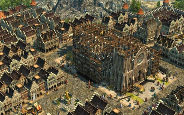 Ganz großes Ende: Nach Erfüllung aller Aufgaben könnt ihr ein monumentales Gebäude errichten.