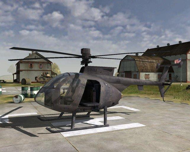 Der Lttel Bird, der neue sehr wendige Hubschrauber der US Army