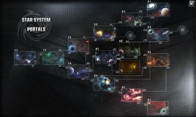 Es gibt viel zu entdecken im Weltraum - zeigt die Sternenkarte.