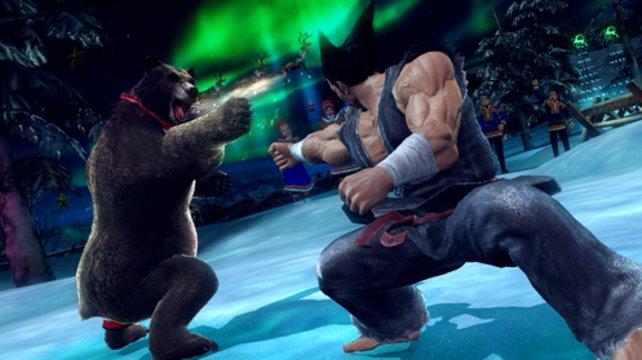 Heihachi versus Kuma.