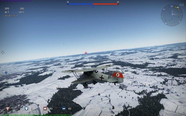 Landschaft und Flugzeuge sehen in War Thunder ordentlich aus.