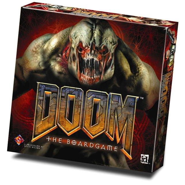 Mehr als nur Ballerei: Doom gibt's auch als geselliges Brettspiel.