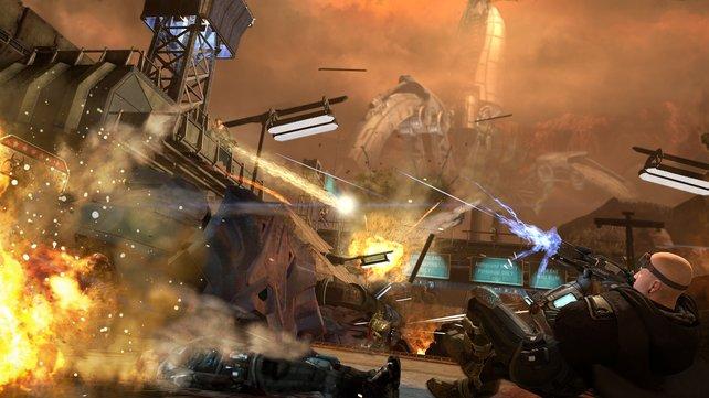 Im Zerstörungs-Modus legt ihr Abschnitte aus der Kampagne innerhalb einer Minute in Schutt und Asche.