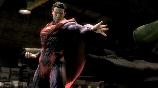 Für jeden Charakter gibt es alternative Kostüme. Hier zeigt sich Superman in seinem Regime-Kostüm.