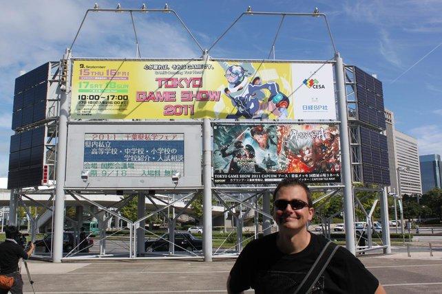 spieletipps-Redakteur Thomas unterwegs auf der Tokyo Game Show.