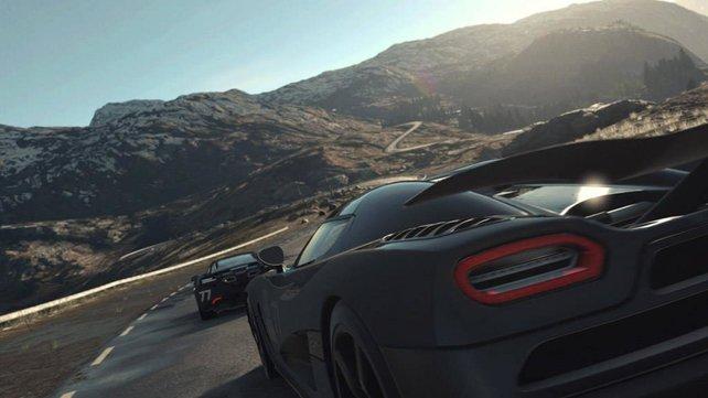 In beeindruckenden Landschaften fahrt ihr gegen menschliche Fahrer oder ganze Teams eure Rennen.