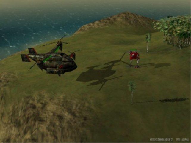 Ein Helikopter im Anflug