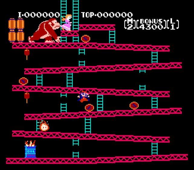 Donkey Kong war das erste Videospiel, dessen Hintergrundgeschichte schon vorher erdacht wurde.