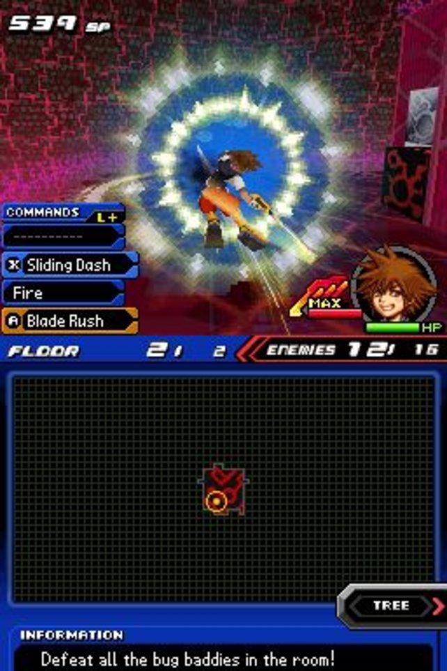 Im Systemkern-Kerker spielt Sora den Kammerjäger für herzlose Bugs.