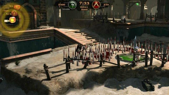 Autsch! Altäre sind meist von Fallen umgeben, die jeder Spieler aktivieren kann.