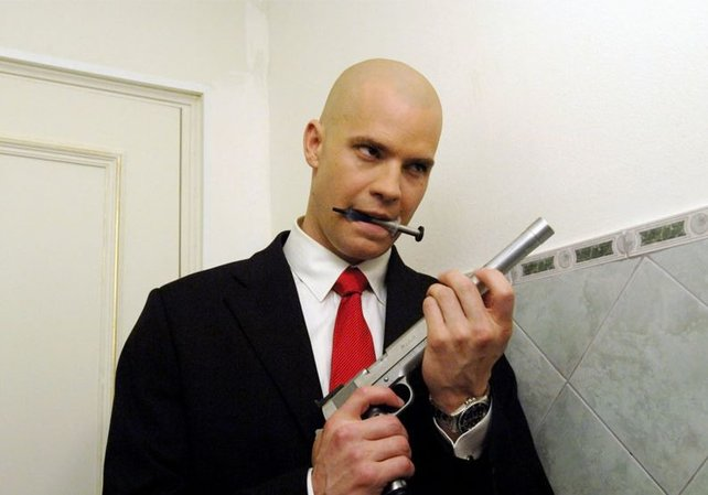 Schauspieler Timothy Olyphant als Agent 47.